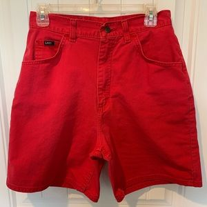 Lee vintage shorts mom jeans 4th of July size 12
